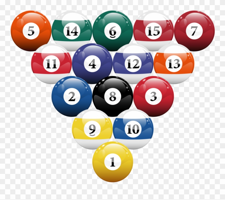 Download Racked Billiard Pool Balls Clipart Png Photo.