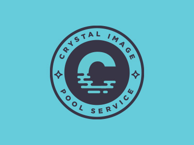 Crystal Image Pool Service Logo by Patrick OConnor on Dribbble.