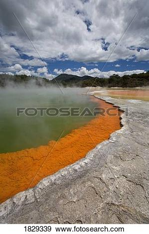 Stock Photograph of Champagne Pool at geothermal site, Wai.