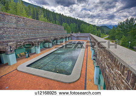 Stock Image of Swimming pool, Cave and Basin National Historic.