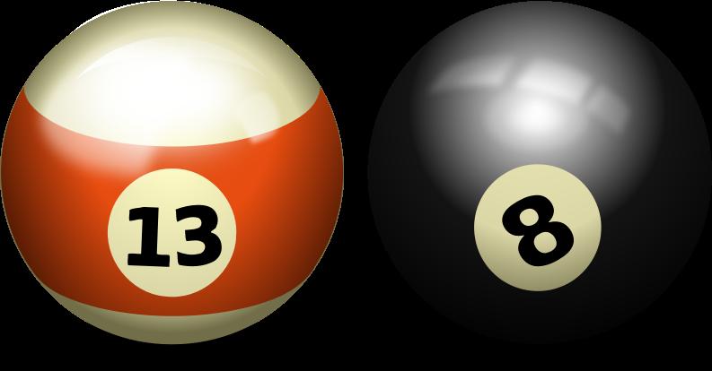 Image for billiards pool ball sport clip art.
