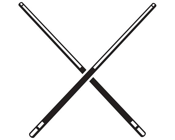 Billiards clipart pool stick, Billiards pool stick.