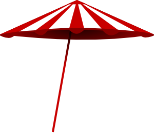 Tomk Red White Umbrella Clip Art at Clker.com.