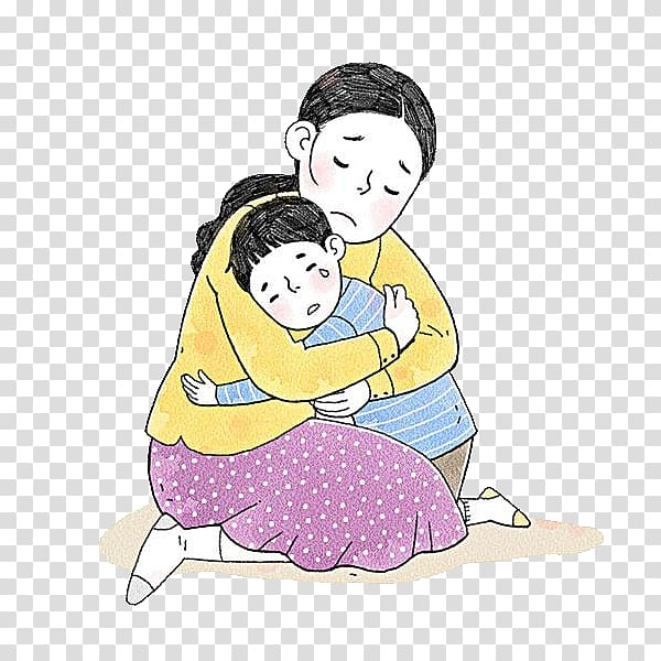 Woman carrying child , Mother Child Drawing , Poor child.
