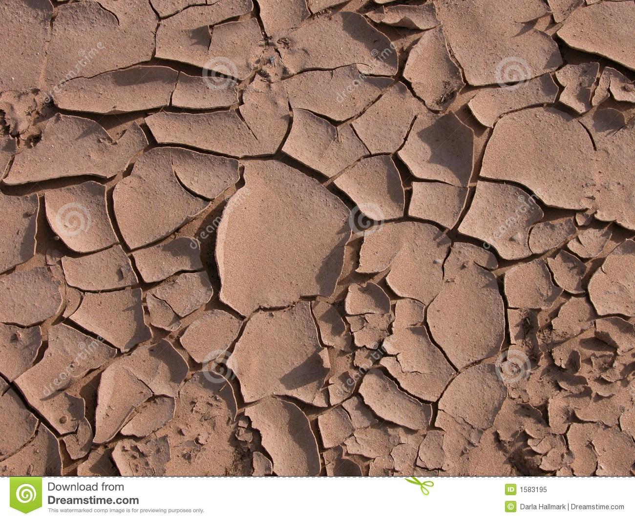 Cracks In The Desert Royalty Free Stock Photo.