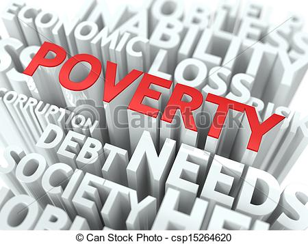Clip Art of Poverty. The Wordcloud Concept..