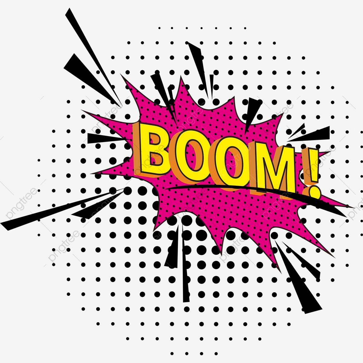 Modern Pop Art Explosion Bubble Boom, Modern, Pop, Art PNG.