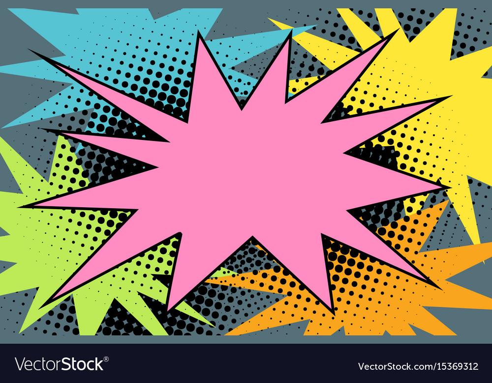Pink comic burst explosion pop art.
