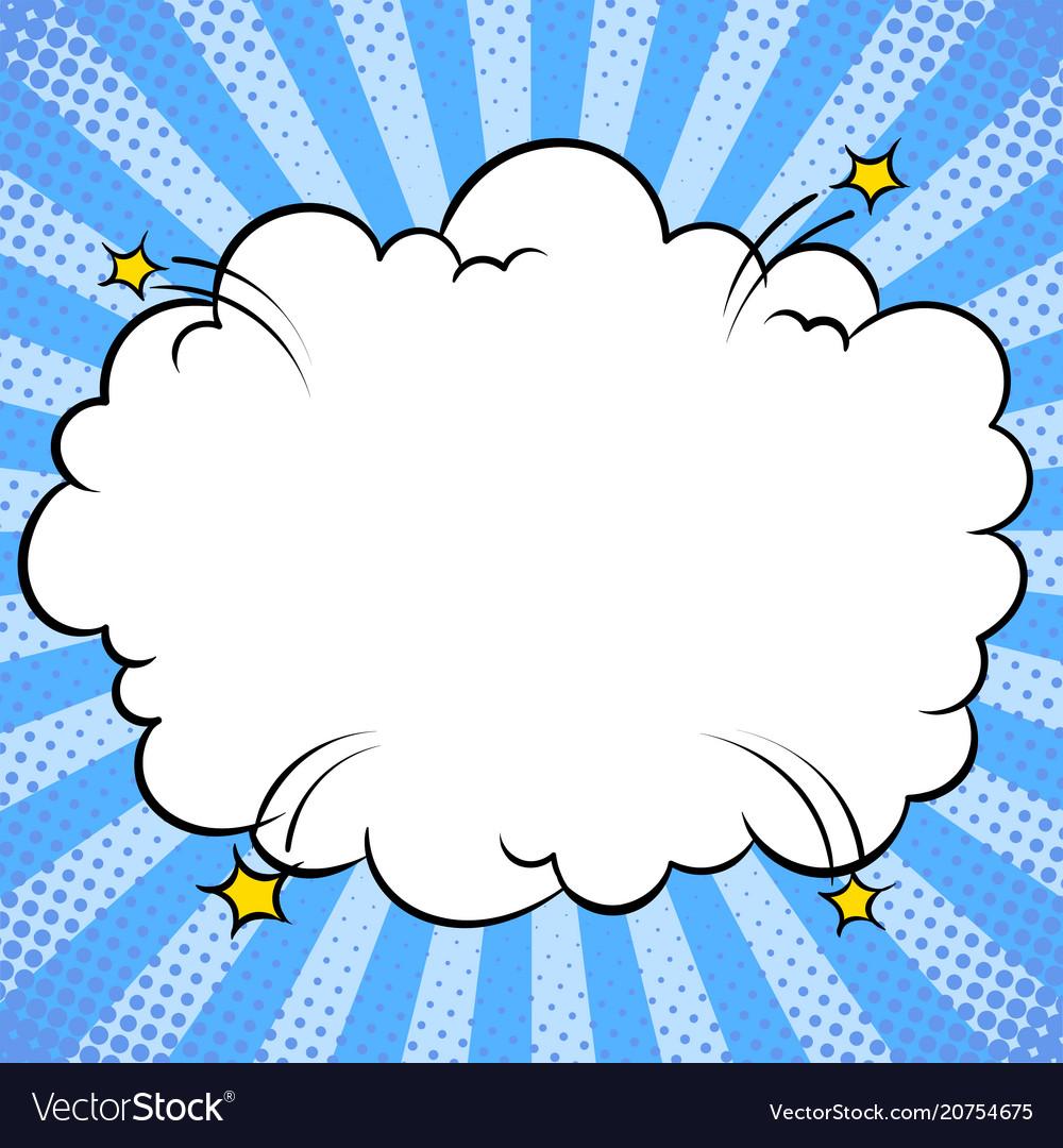 Bomb explosion cloud comic book pop art.