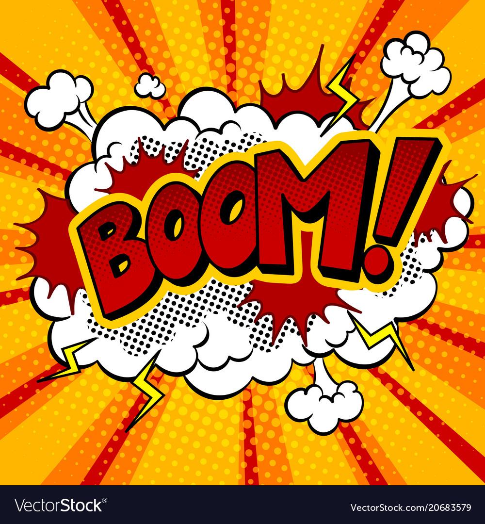 Boom word comic book pop art.
