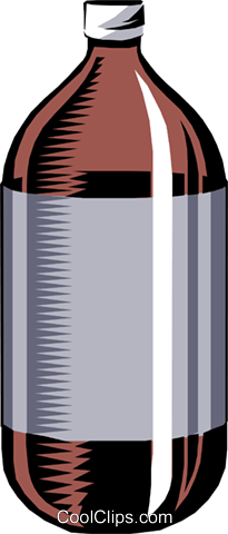 Disposable pop bottle Royalty Free Vector Clip Art.