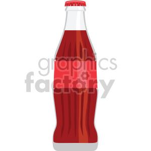 soda pop bottle flat icons . Royalty.