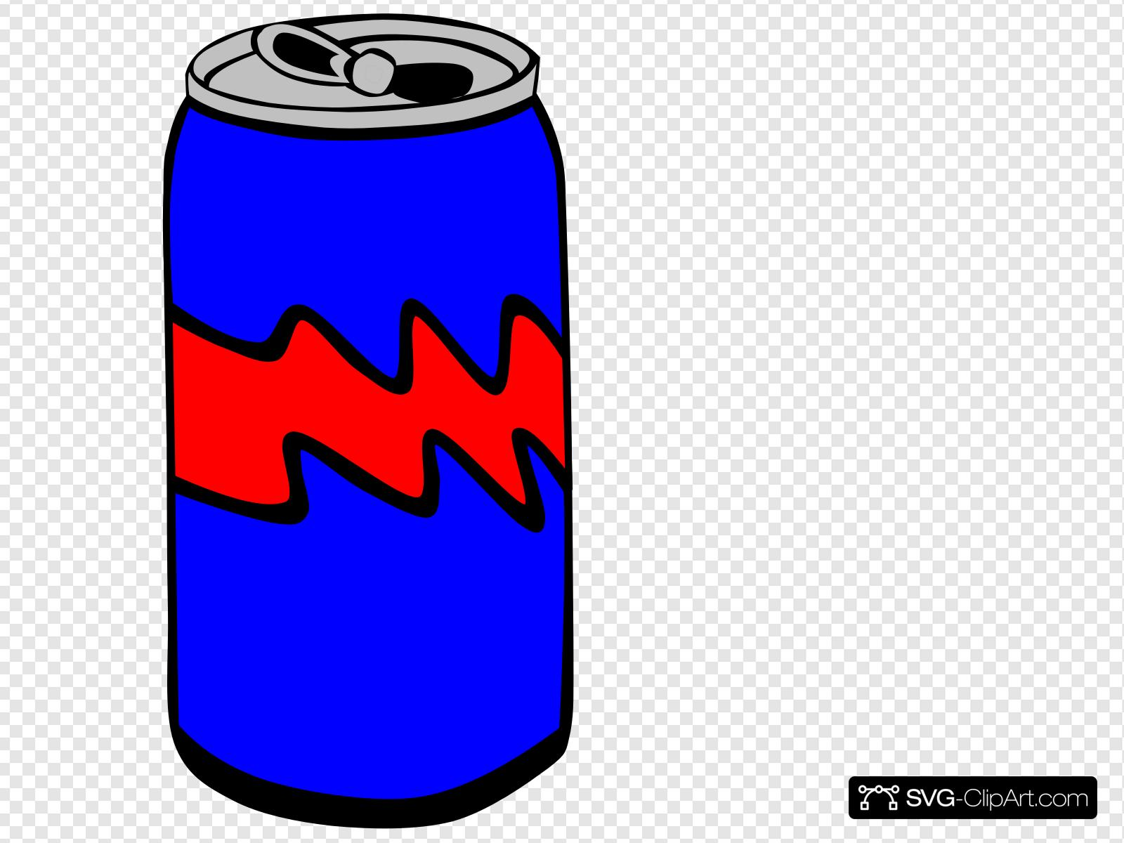 Blue Pop Can Clip art, Icon and SVG.