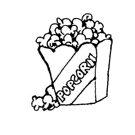 Popcorn Clip Art Black And White.