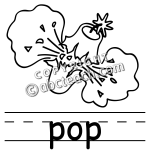 Pop Clipart Black And White.