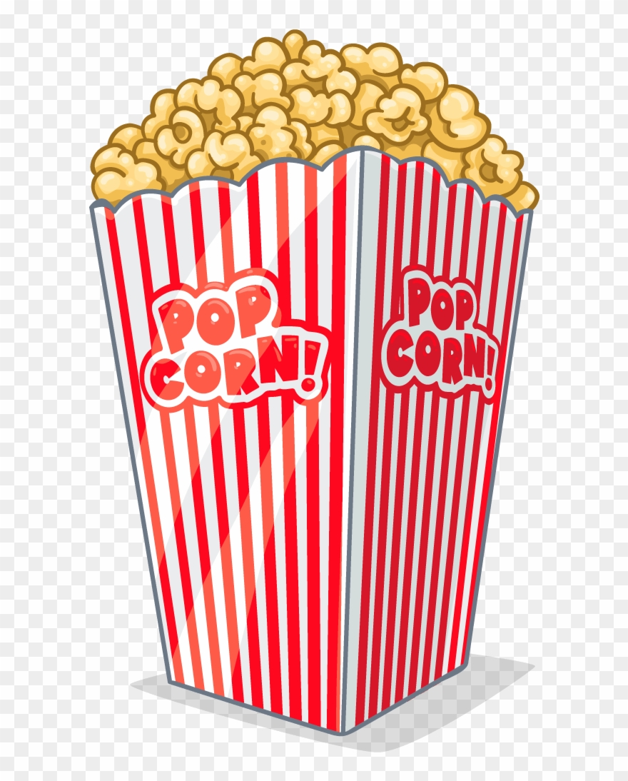 Clipart Tv And Popcorn.