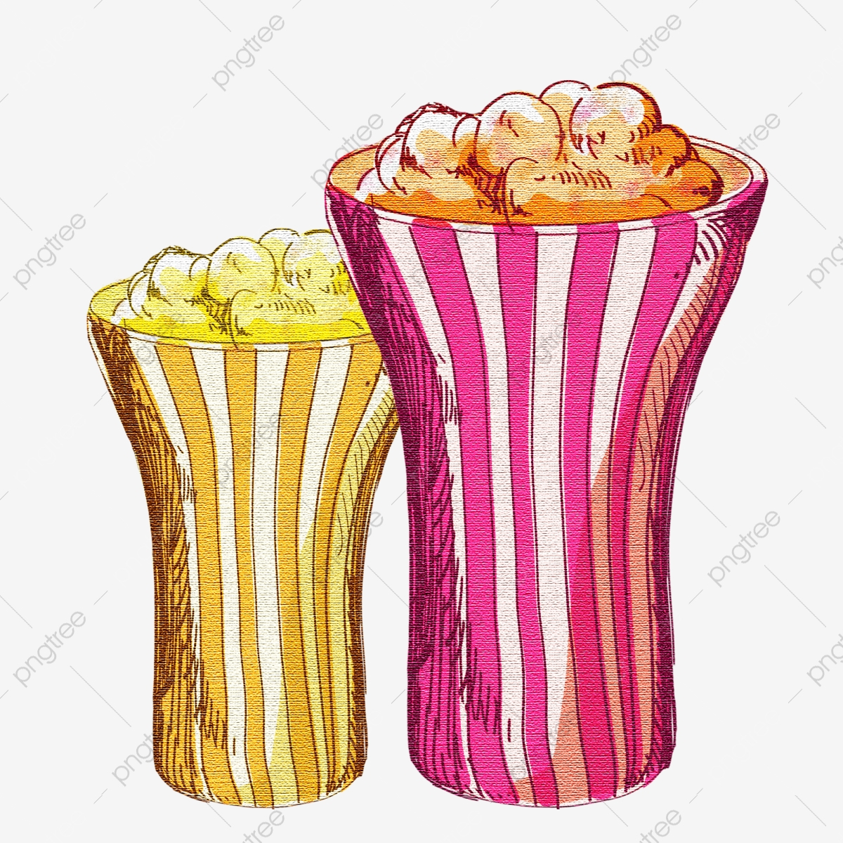 Snacks Popcorn, Popcorn Clipart, Snacks, Food PNG.