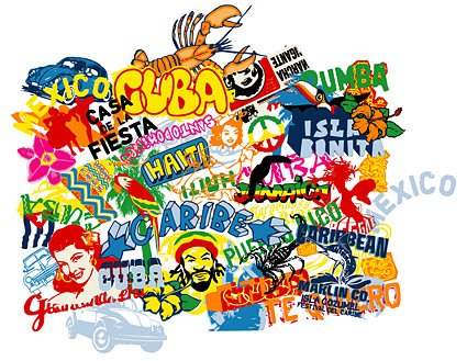 Free Pop culture movement and the street elements Clipart.