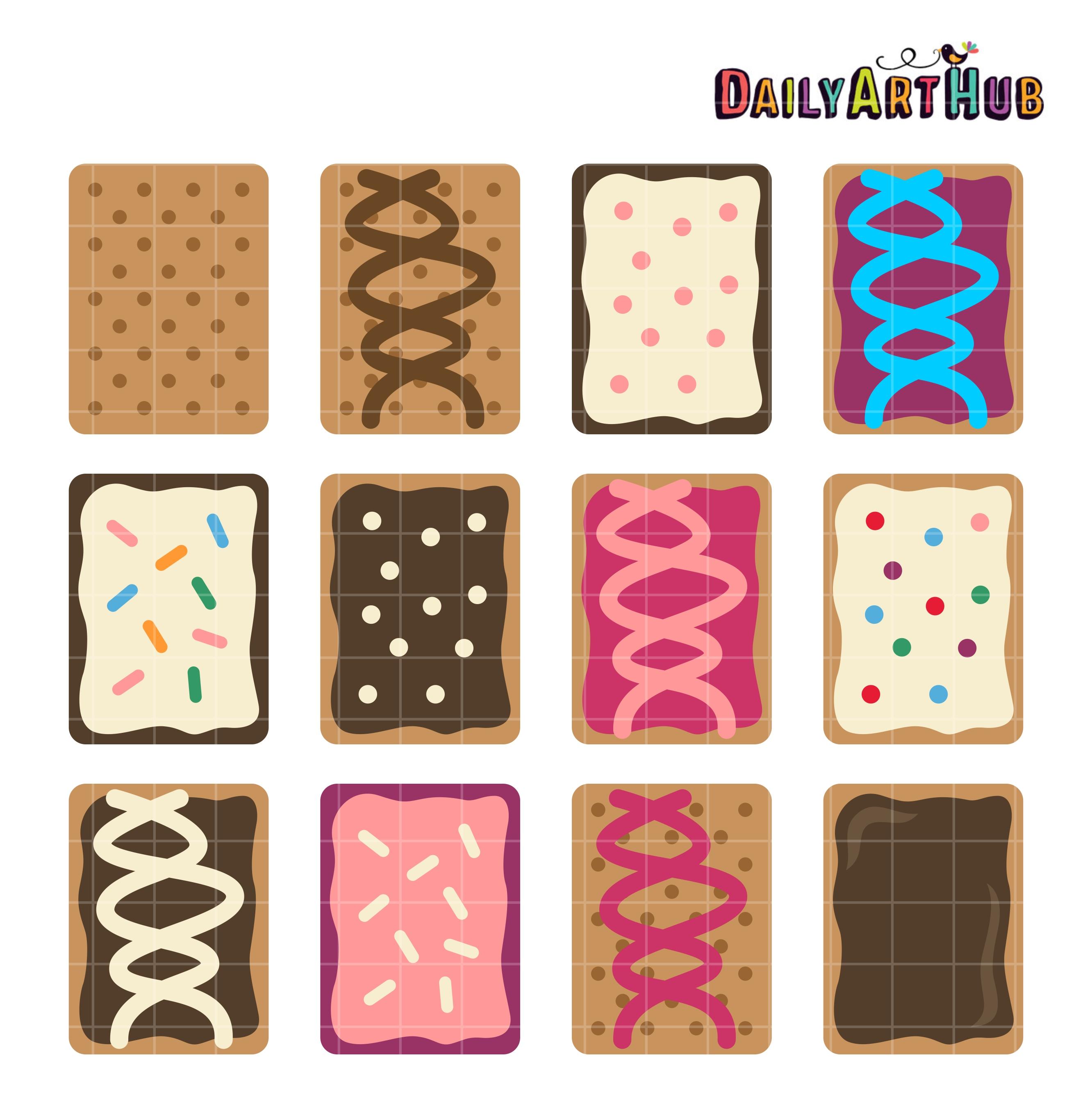 Pop Tarts Clip Art Set.