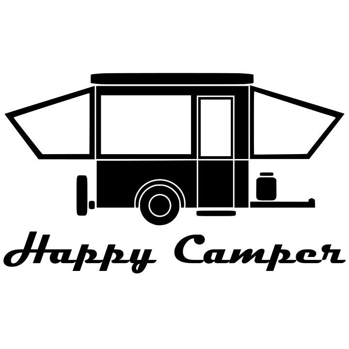 Happy Popup Camper without Windows.