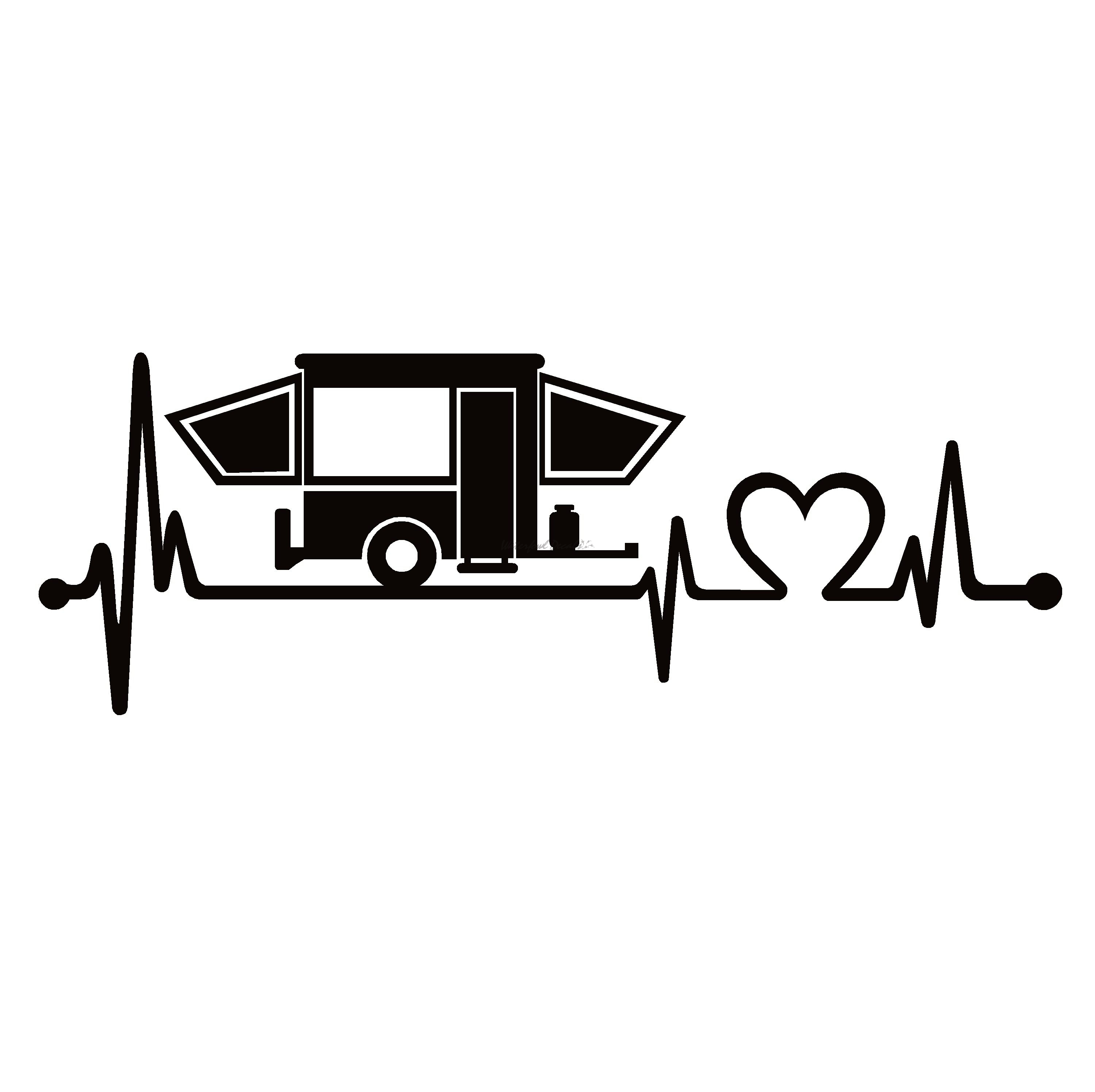 Pop Up Lifeline Camper Life Decal.