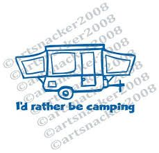 Image result for camping with pop up camper clip art.