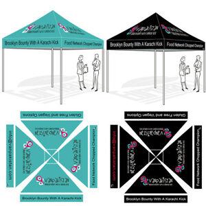 Details about 10\'x10\' Custom LOGO Printed Ez Pop Up Canopy Graphics Digital  Trade Show Tent.