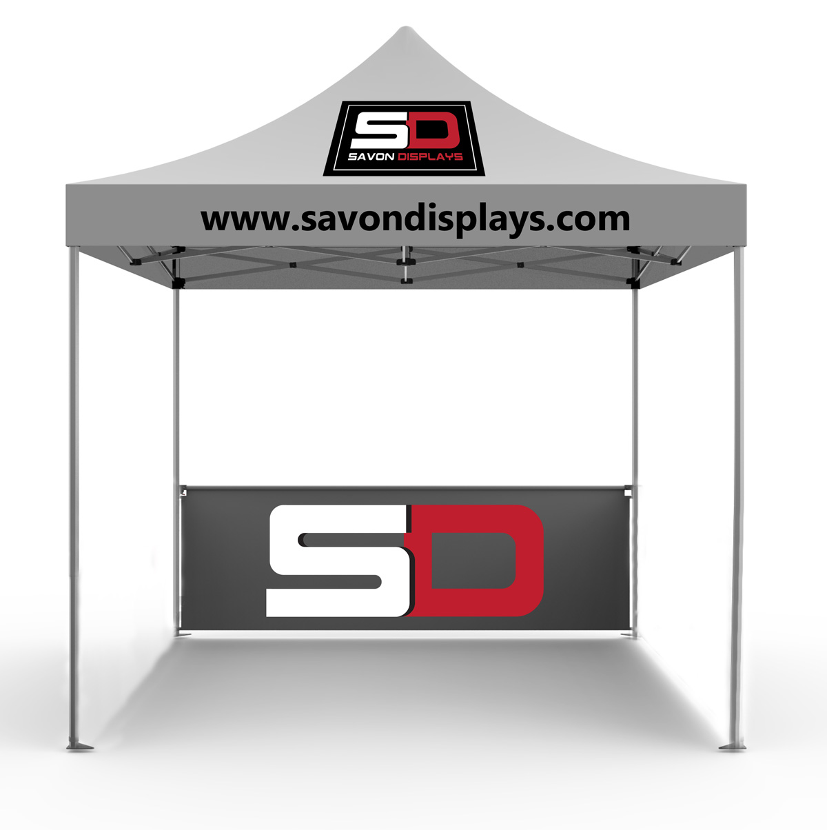 10 x 10 Popup Tent / Canopy with Back Wall.