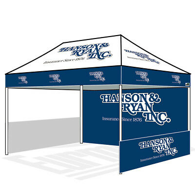 10x15 Commercial Custom Logo Graphics Printed Ez Pop Up Canopy Marquee Tent  990412770618.