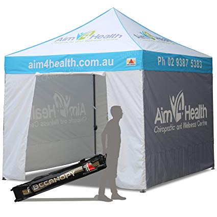 ABCCANOPY Deluxe Pop up Tents with Logo 10x10 Promotional Tents Custom Pop  up Tents with Enclosure Walls Bouns 4X Weight Bag.