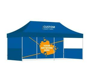 Details about Custom 20X10 LOGO Printed Top For EZ Pop Up Tent Outdoor  Canopy Instant Gazebo.