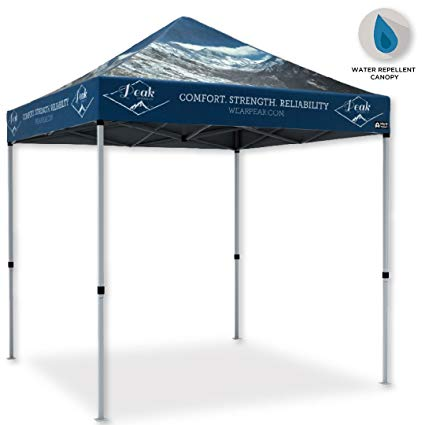 Custom Canopy Pop Up Tent, 10x10\' : Instant Event Tent With Your Printed  Color Business Logo : Portable With Steel Frame, Carry Bag, Weight Bags and.