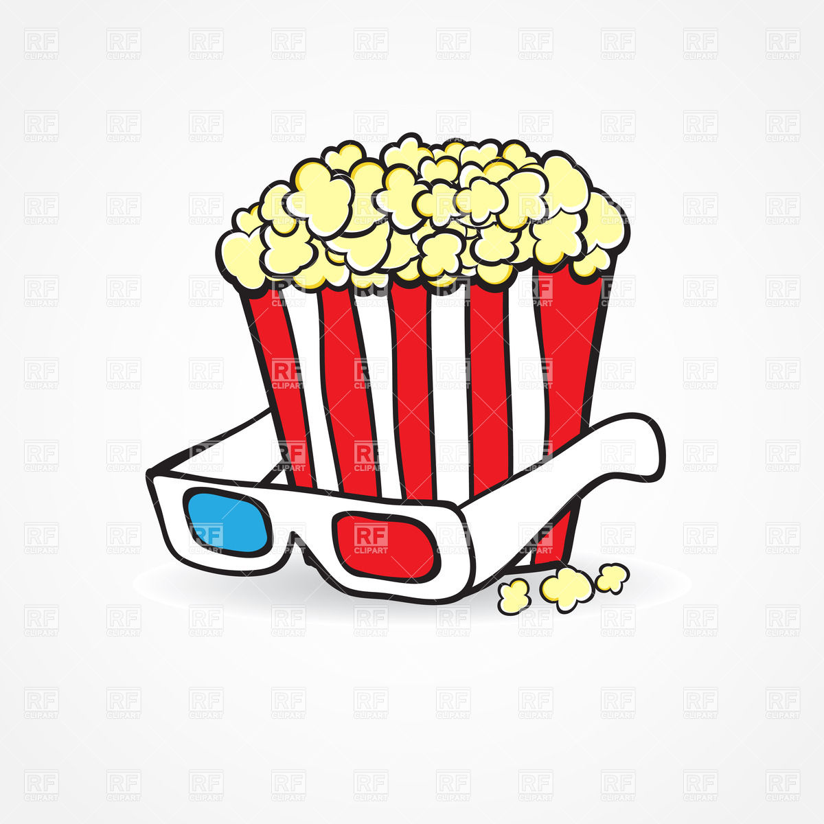 1832 Popcorn free clipart.