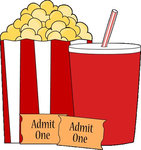 Movie Popcorn and Drink Clip Art.