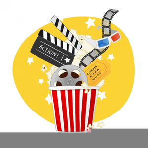 Popcorn And Movie Clipart.