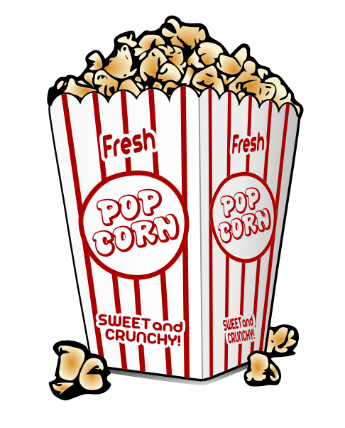 Movie theater popcorn clipart free clipart images 2.