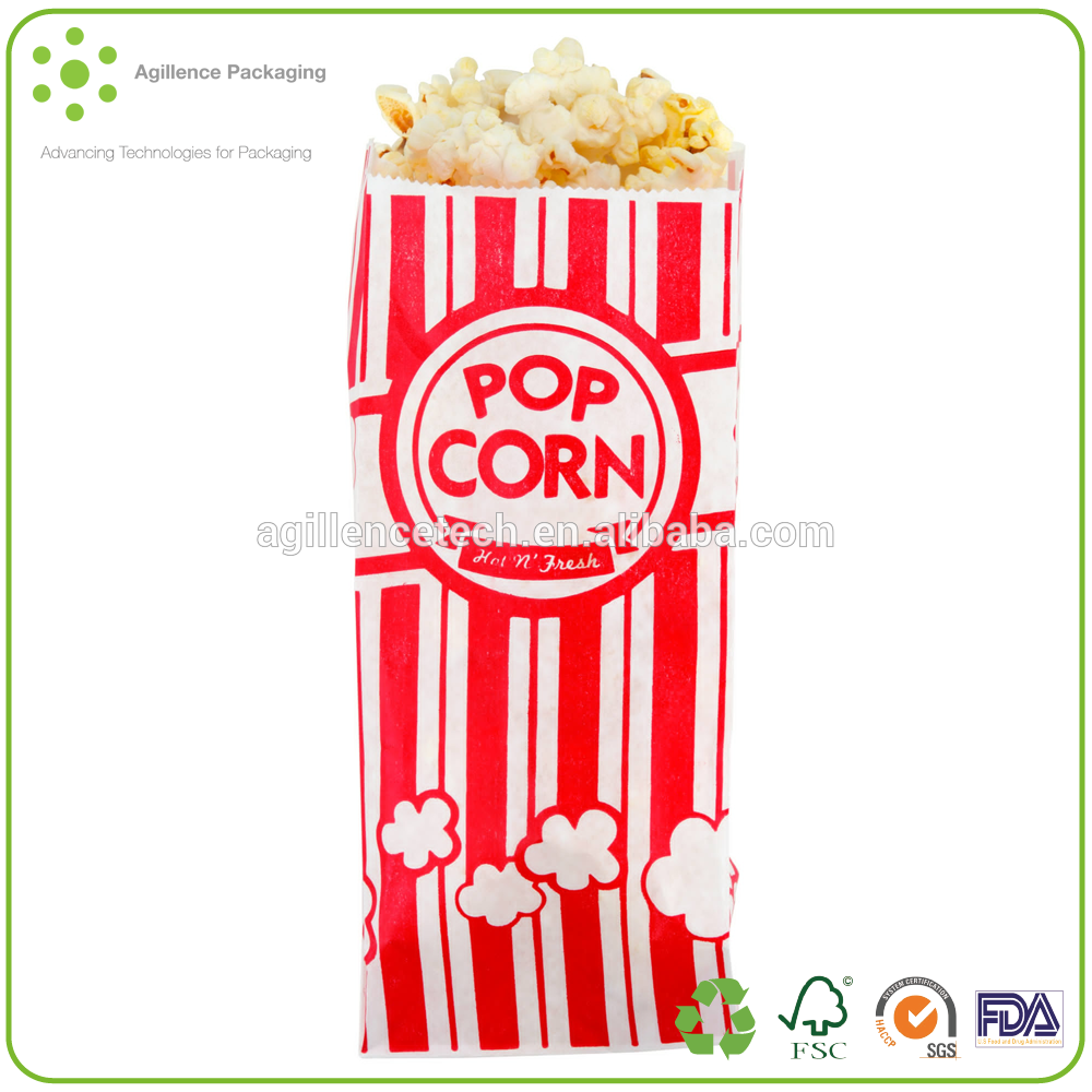 2015 New Arrival Popcorn Packaging Bags Kraft Paper Bag For Food Packaging  Microwave Popcorn Bags.