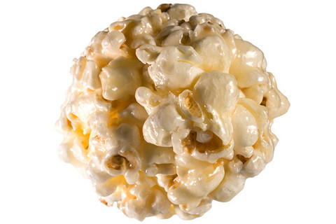 Two Variations of Popcorn Balls: Salted Caramel and Coconut.