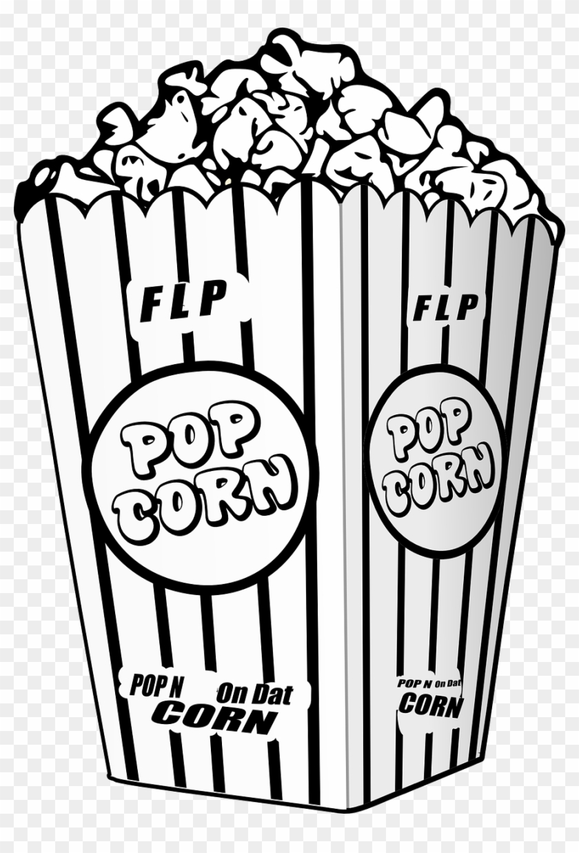 Popcorn Movie Entertain Film Png Image.