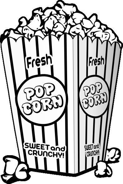 Popcorn black and white popcorn black and white clipart 2.