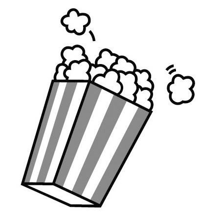 Popcorn Clipart Black And White.