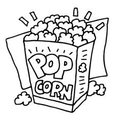 Cartoon Popcorn Clip Art Popcorn Graphics Clipart Popcorn Icon 2.