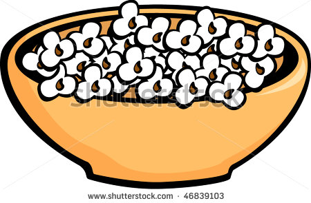 Popcorn Bowl Clipart.