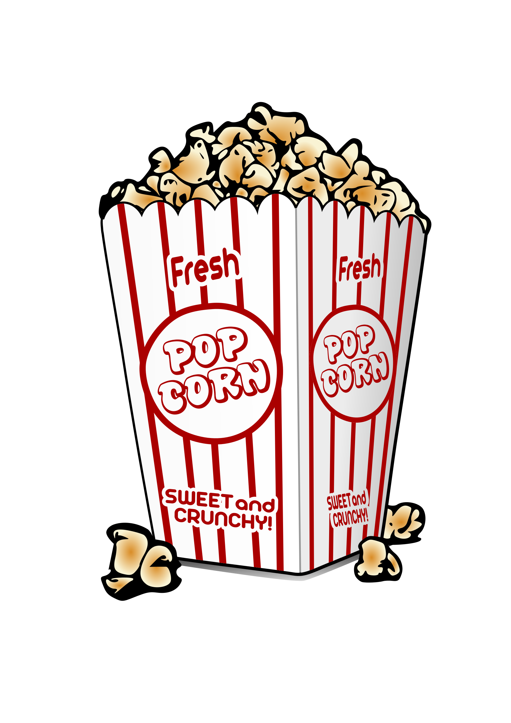 Popcorn Box Clip Art Viewing Gallery.