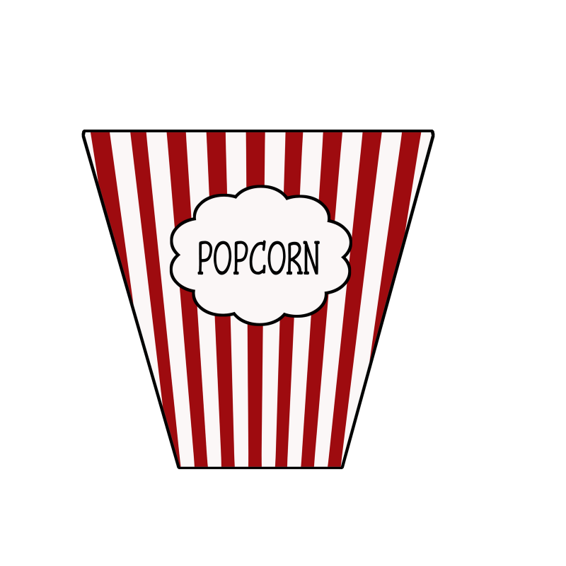 Popcorn bucket template clipart images gallery for free.