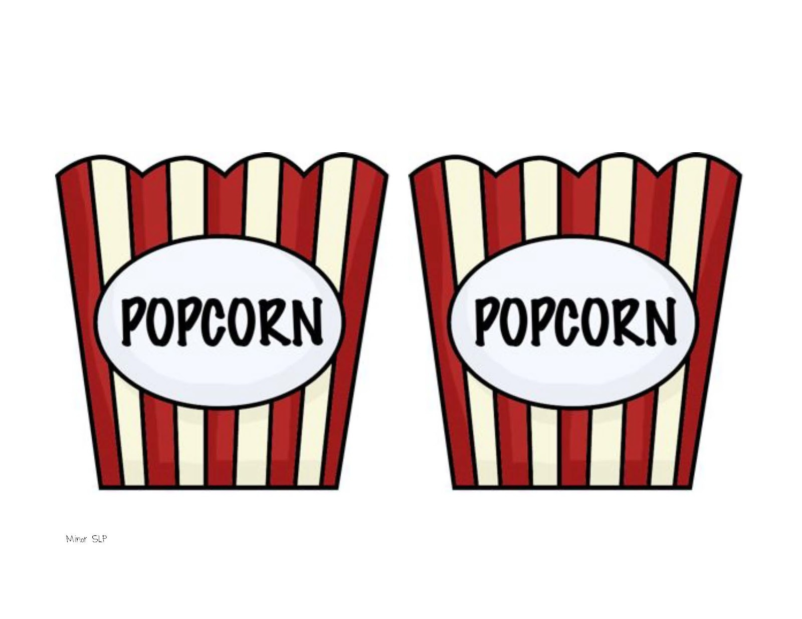 popcorn bucket clipart black and white clipground