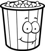 Popcorn Bucket Clip Art.