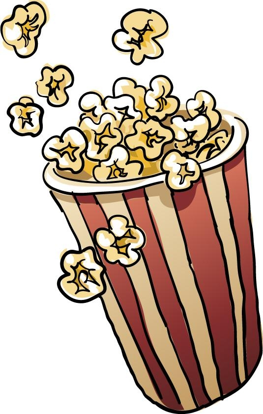 Free popcorn clipart images.
