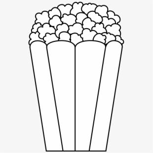 Popcorn Clipart Black.