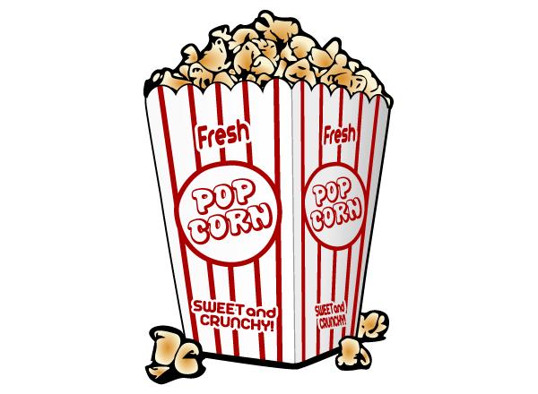 Free Popcorn Vector Clip Art Image.